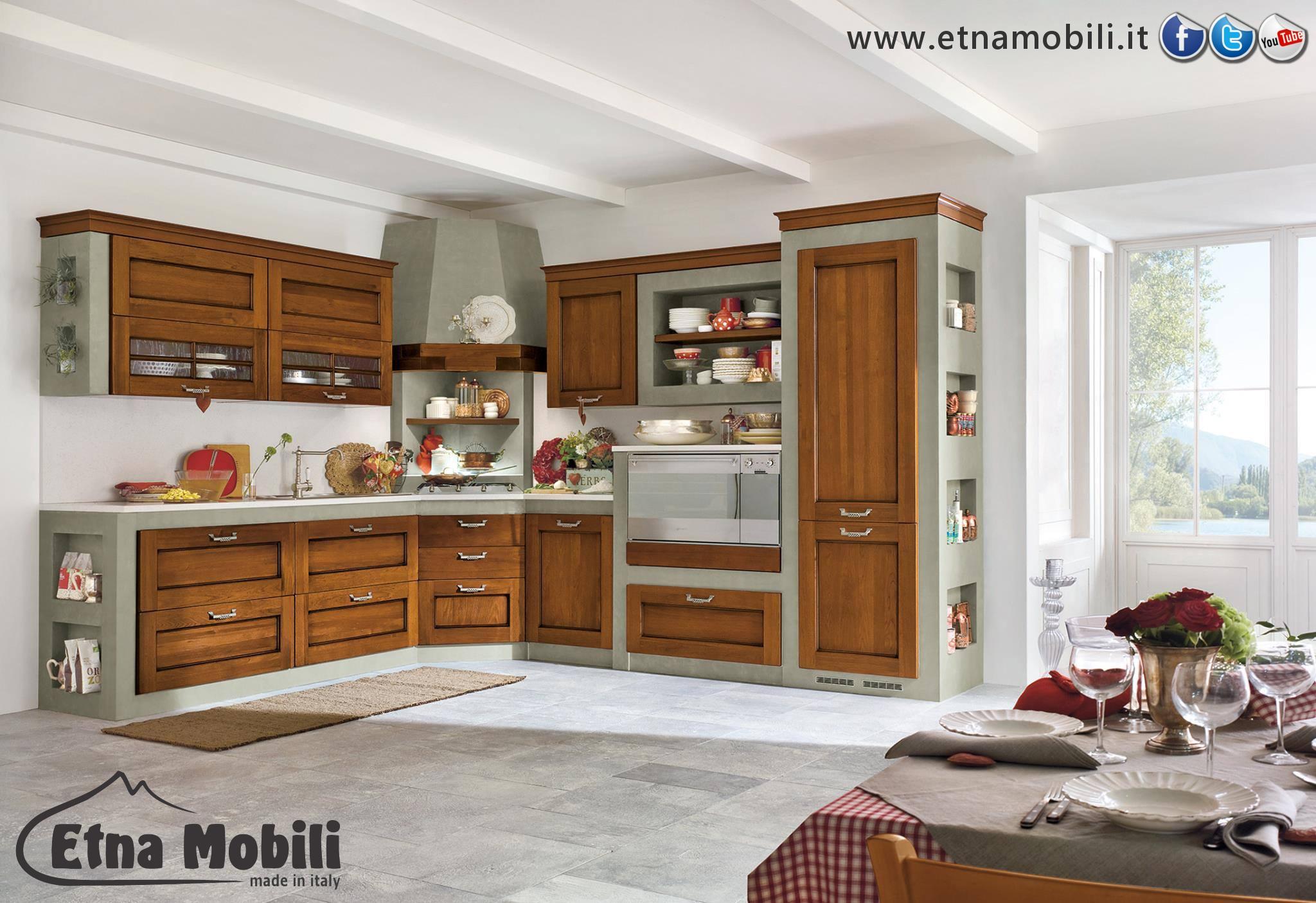 Cucina Classica In Muratura Contemporanea Randazzo Catania Sicilia  #714222 2048 1405 Come Arredare La Cucina Al Mare