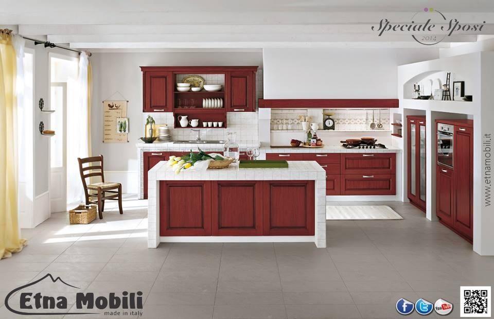 La cucina in muratura - Cucine moderne colorate ...