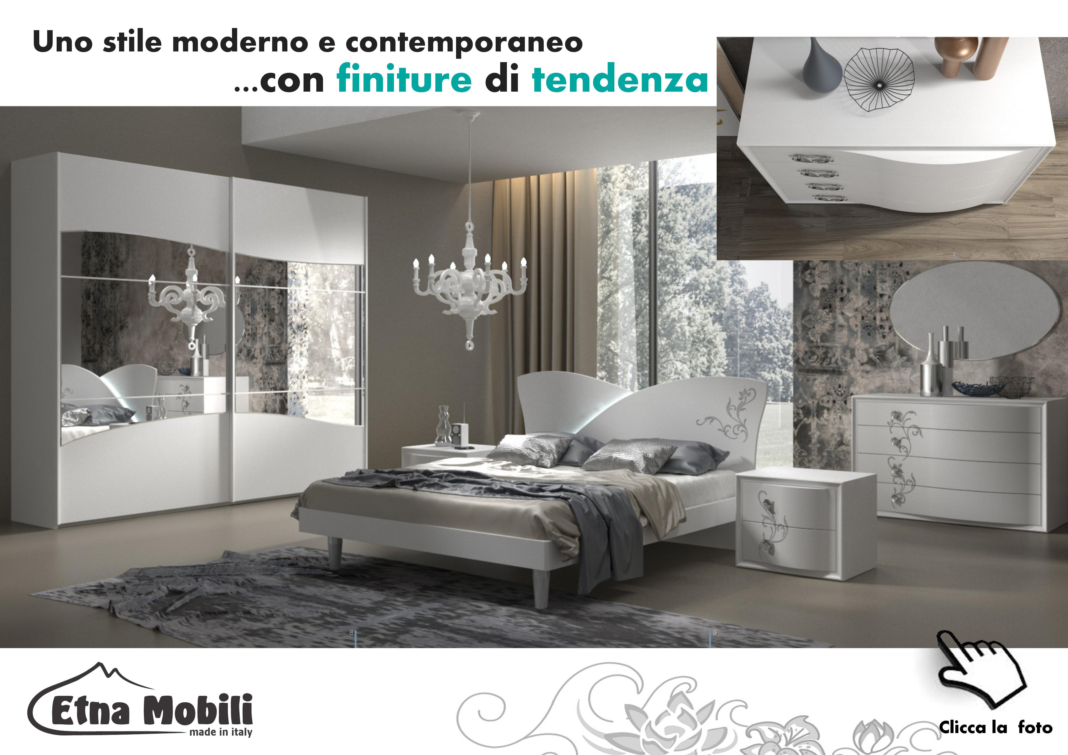 Camera da letto moderna contemporanea sicilia catania - Letto stile moderno ...