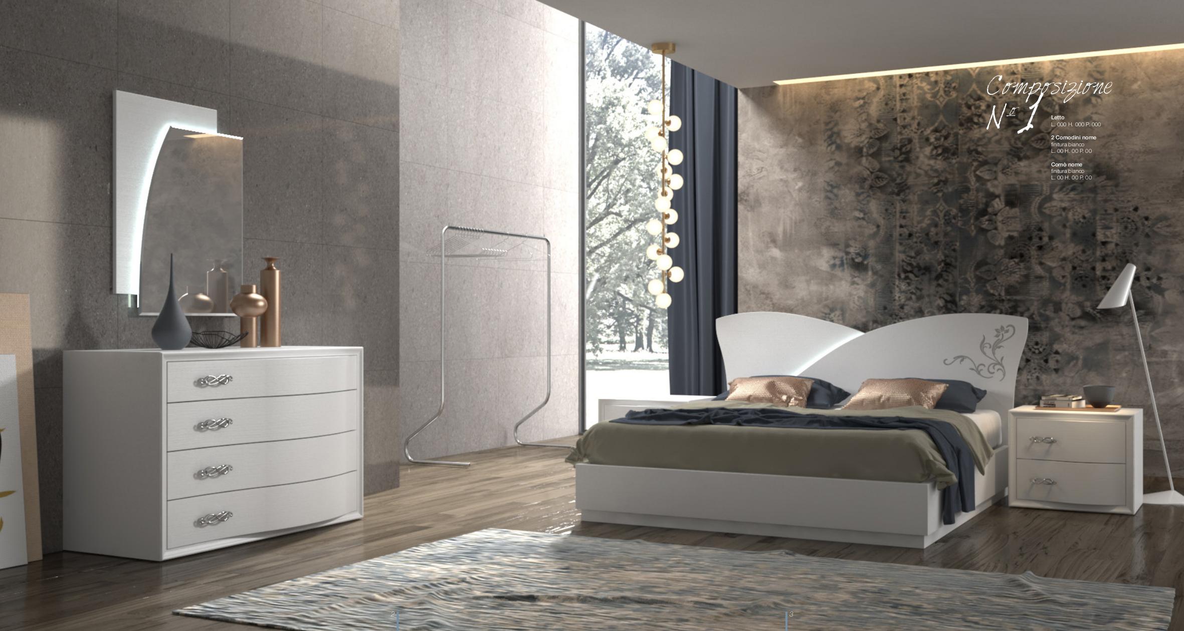 Camera da letto moderna contemporanea sicilia catania for Mobili stanza letto