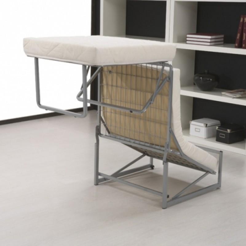 Pouf letto trasformabile a letto singolo in tessuto