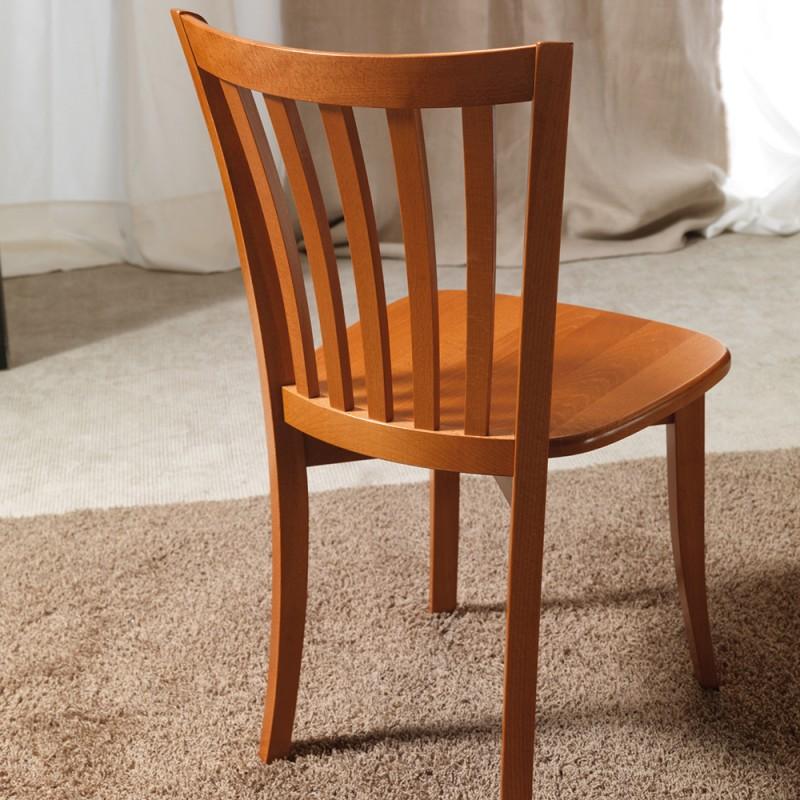 Sedia legno massello classica napoli vendita online for Offerta sedie legno