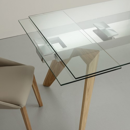 Tavolo vetro allungabile venezia vendita online prezzo for Tavolo vetro temperato allungabile
