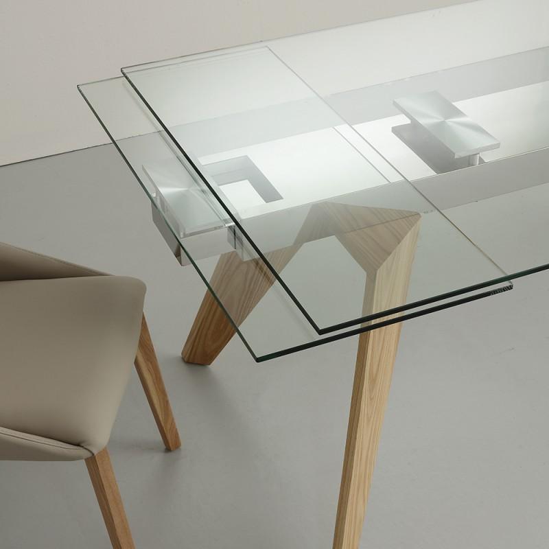 Tavolo vetro allungabile \