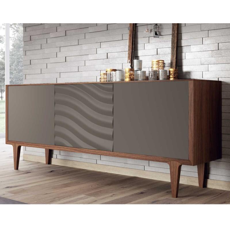 Madia venezia credenza in vero legno massello 3 ante for Outlet mobili online vendita