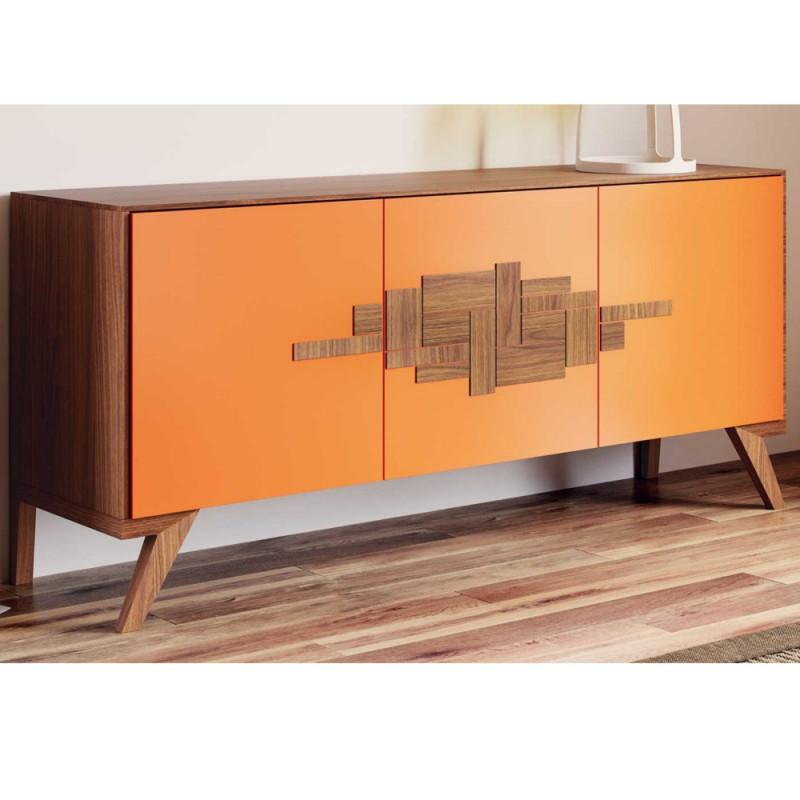 Madia arezzo credenza 3 ante legno noce canaletto vendita for Madie design online