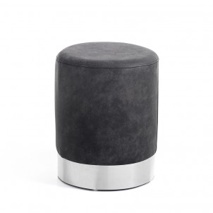 "Sgabello Pouf ""KAMI DARK GREY"""