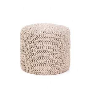 "Pouf moderno ""Choose Cream"""