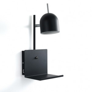 "Lampada Applique A Muro ""NIO EVO BLACK"""