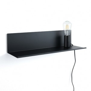 "Mensola applique comodino ""MAGIC SHELF BLACK"""