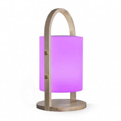 Altoparlante lampada Bluetooth PARTY WOOD