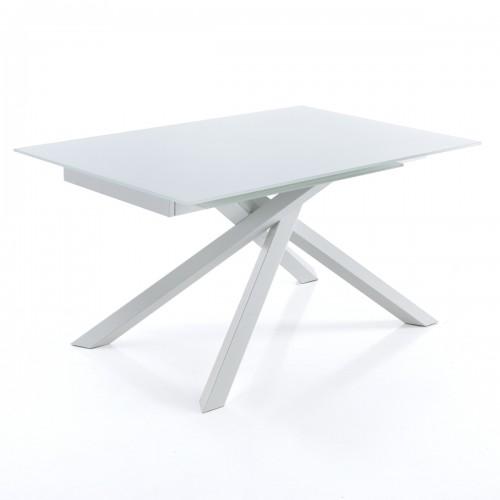 Tavolo Allungabile Moderno Cristallo.Tavolo Allungabile Moderno Shanghai White Tavoli Allungabili Vetro