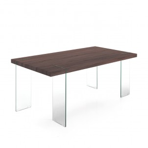 "Tavolo moderno ""Waver dark Wood"""