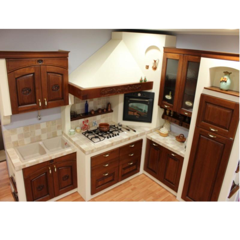 Cucina in finta Muratura angolare offerta outlet esclusiva vendita ...
