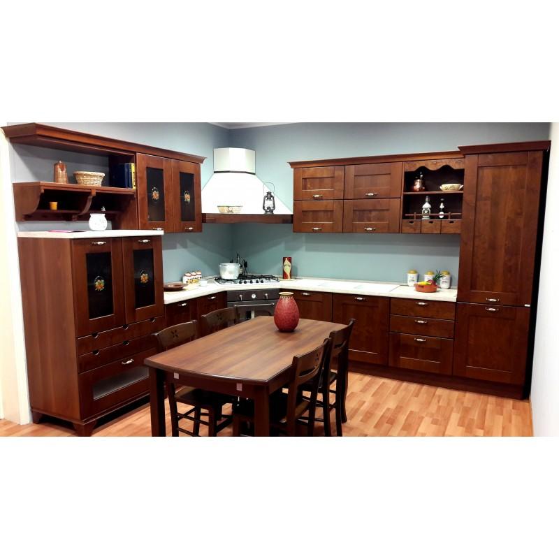 Cucina classica angolare con tavolo e 6 sedie offerta outlet ...