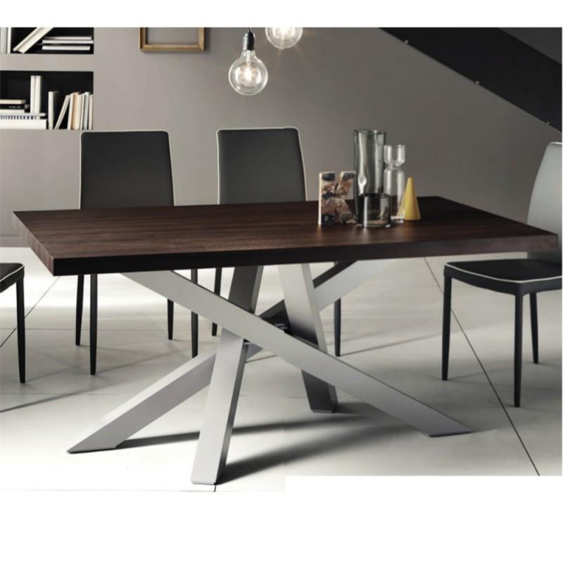 Tavolo moderno fisso con piano laminato 30 mm vendita online ...