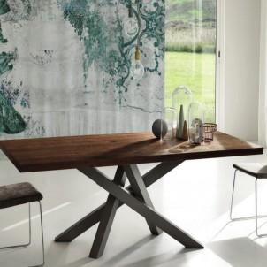 Tavolo moderno fisso con piano laminato 30 mm