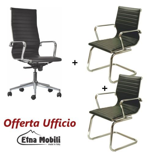 Sedie Moderne In Offerta.Promozione Ufficio 3 Sedie Moderne Roma Per Uffici